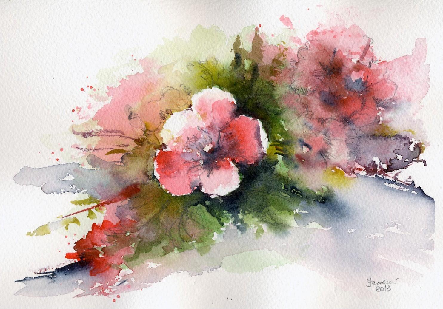 2013 24 semplici fiori marisa faccani acquerelli for Fiori semplici